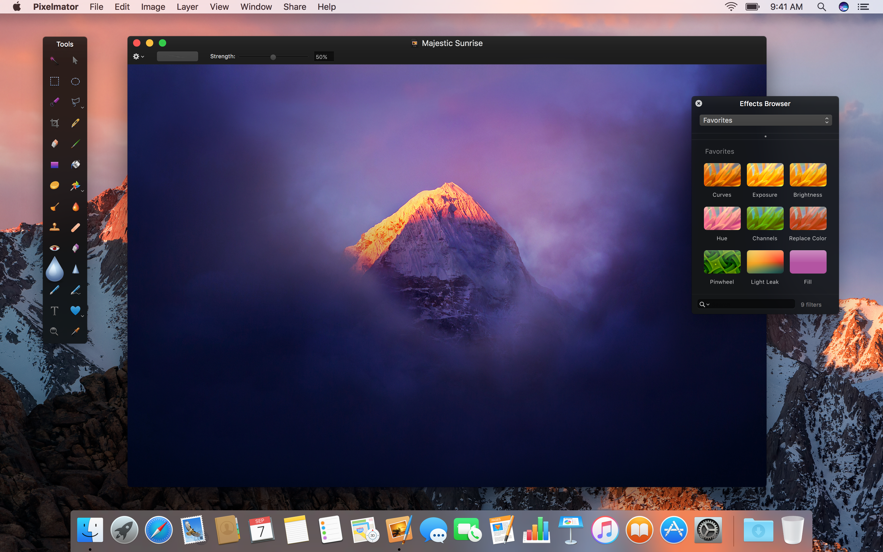Pixelmator 3.6 Cordillera adds support for macOS Sierra & the Touch Bar Image